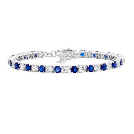 Blue CZ Tennis Bracelet