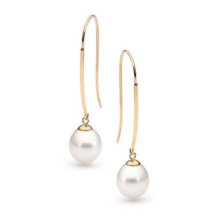 9ct YG Drop Earrings