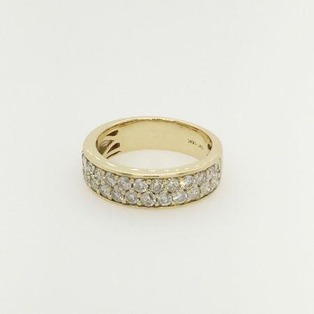 10ct Gold Diamond Round Ring