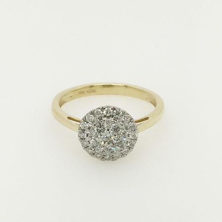 10ct Yellow Gold Diamond Ring
