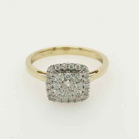 10ct Yellow Gold Diamond Engagement Ring