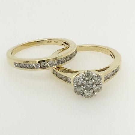 10ct Yellow Gold Bridal Set
