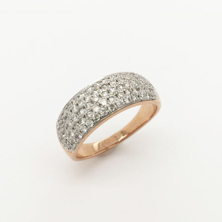 9ct Rose Gold Diamond Band