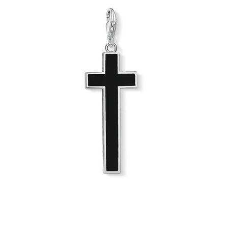 Black Cross Charm