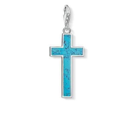 Torquise Cross Charm