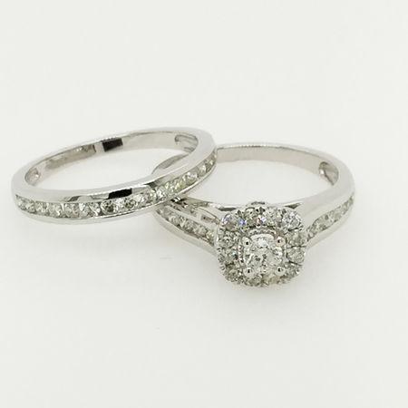 10ct White Gold Bridal Set