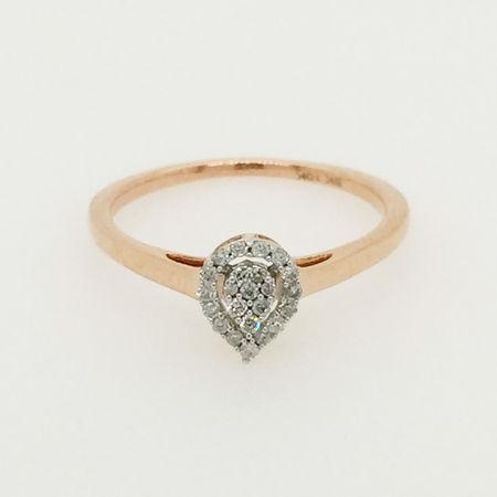 10ct Rose Gold Diamond Ring